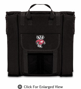 Picnic Time Stadium Seat - Black University of Wisconsin Badgers