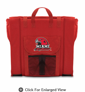Picnic Time Stadium Seat - Red Miami University Red Hawks