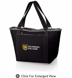 Picnic Time Topanga Digital Print - Black Tote Colorado College Tigers