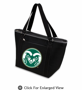 Picnic Time Topanga Digital Print - Black Tote Colorado State Rams