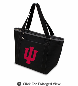 Picnic Time Topanga Digital Print - Black Tote Indiana University Hoosiers
