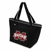 Picnic Time Topanga Digital Print - Black Tote Mississippi State Bulldogs