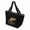 Picnic Time Topanga Digital Print - Black Tote Purdue University Boilermakers