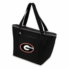 Picnic Time Topanga Digital Print - Black Tote University of Georgia Bulldogs