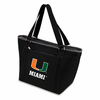 Picnic Time Topanga Digital Print - Black Tote University of Miami Hurricanes