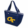 Picnic Time Topanga Digital Print - Navy Tote Georgia Tech Yellow Jackets