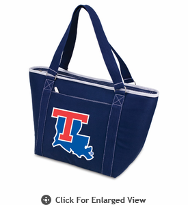 Picnic Time Topanga Digital Print - Navy Tote Louisiana Tech Bulldogs