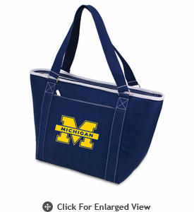 Picnic Time Topanga Digital Print - Navy Tote University of Michigan Wolverines