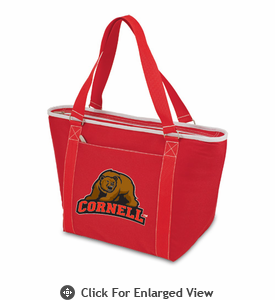 Picnic Time Topanga Digital Print - Red Tote Cornell University Bears