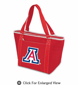 Picnic Time Topanga Digital Print - Red Tote University of Arizona Wildcats