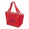 Picnic Time Topanga Digital Print - Red Tote University of Arkansas Razorbacks