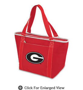 Picnic Time Topanga Digital Print - Red Tote University of Georgia Bulldogs