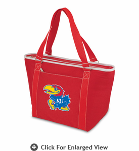 Picnic Time Topanga Digital Print - Red Tote University of Kansas Jayhawks
