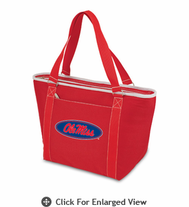 Picnic Time Topanga Digital Print - Red Tote University of Mississippi Rebels