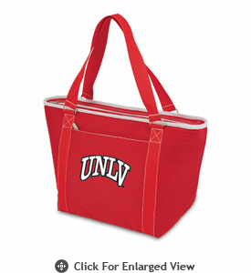 Picnic Time Topanga Digital Print - Red Tote University of Nevada LV Rebels