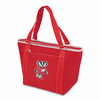 Picnic Time Topanga Digital Print - Red Tote University of Wisconsin Badgers