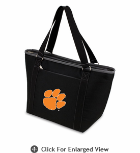 Picnic Time Topanga Embroidered - Black Tote Clemson University Tigers