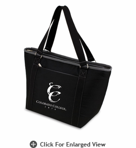 Picnic Time Topanga Embroidered - Black Tote Colorado College Tigers