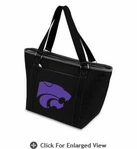 Picnic Time Topanga Embroidered - Black Tote Kansas State Wildcats