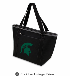 Picnic Time Topanga Embroidered - Black Tote Michigan State Spartans