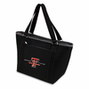 Picnic Time Topanga Embroidered - Black Tote Texas Tech Red Raiders