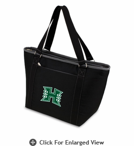 Picnic Time Topanga Embroidered - Black Tote University of Hawaii Warriors