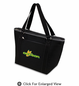 Picnic Time Topanga Embroidered - Black Tote University of Oregon Ducks