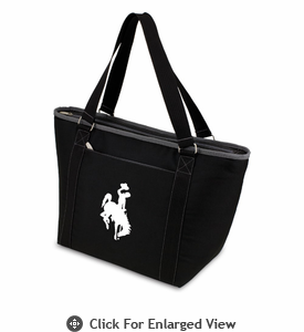Picnic Time Topanga Embroidered - Black Tote University of Wyoming Cowboys