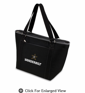 Picnic Time Topanga Embroidered - Black Tote Vanderbilt University Commodores