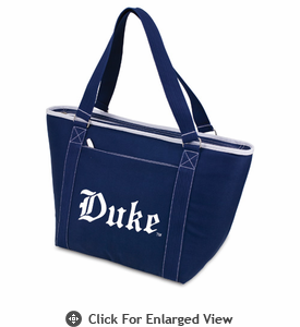 Picnic Time Topanga Embroidered - Navy Tote Duke University Blue Devils
