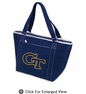 Picnic Time Topanga Embroidered - Navy Tote Georgia Tech Yellow Jackets