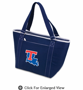 Picnic Time Topanga Embroidered - Navy Tote Louisiana Tech Bulldogs