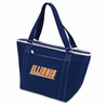 Picnic Time Topanga Embroidered - Navy Tote University of Illinois Fighting Illini