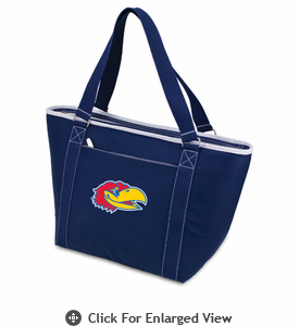 Picnic Time Topanga Embroidered - Navy Tote University of Kansas Jayhawks