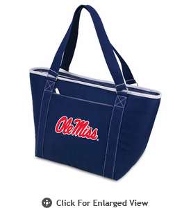 Picnic Time Topanga Embroidered - Navy Tote  University of Mississippi Rebels