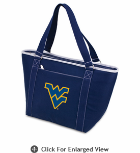 Picnic Time Topanga Embroidered - Navy Tote West Virginia University Mountaineers