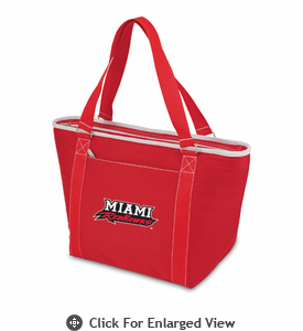 Picnic Time Topanga Embroidered - Red Tote Miami University Red Hawks