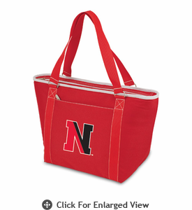 Picnic Time Topanga Embroidered - Red Tote Northeastern University Huskies