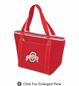 Picnic Time Topanga Embroidered - Red Tote Ohio State Buckeyes