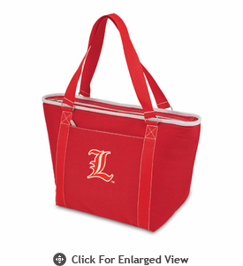 Picnic Time Topanga Embroidered - Red Tote University of Louisville Cardinals