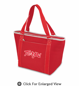 Picnic Time Topanga Embroidered - Red Tote University of Maryland Terrapins
