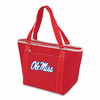 Picnic Time Topanga Embroidered - Red Tote University of Mississippi Rebels