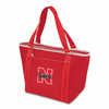 Picnic Time Topanga Embroidered - Red Tote University of Nebraska Cornhuskers