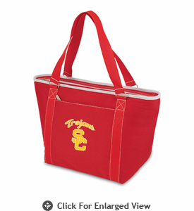 Picnic Time Topanga Embroidered - Red Tote USC Trojans