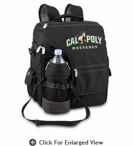 Picnic Time Turismo Black - Digital Print Cal Poly Mustangs