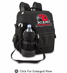 Picnic Time Turismo Black - Digital Print Miami University Red Hawks