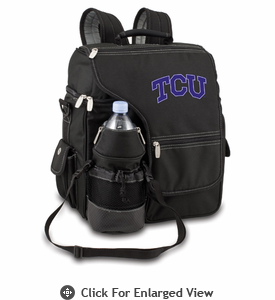 Picnic Time Turismo Black - Digital Print TCU Horned Frogs