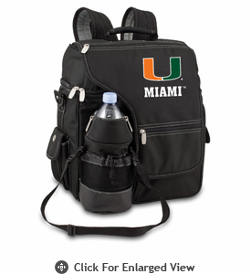 Picnic Time Turismo Black - Digital Print University of Miami Hurricanes