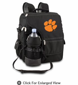 Picnic Time Turismo Black - Embroidered Clemson University Tigers