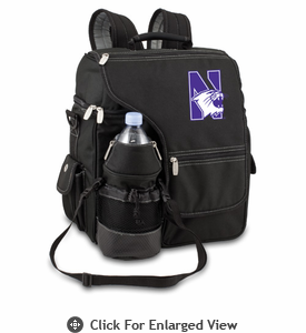 Picnic Time Turismo Black - Embroidered Northwestern University Wildcats